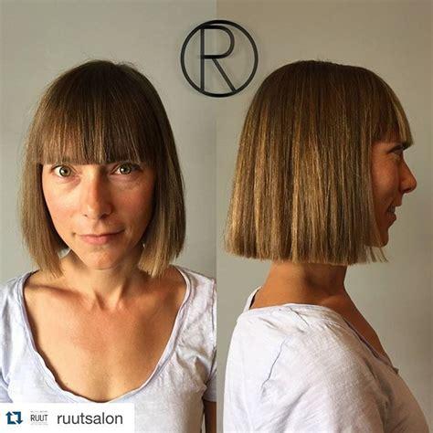 26 Cute Blunt Bob Hairstyle Ideas for Short & Medium Hair