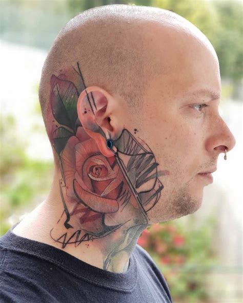 Rose Tattoo on Side of Head | Best Tattoo Ideas Gallery