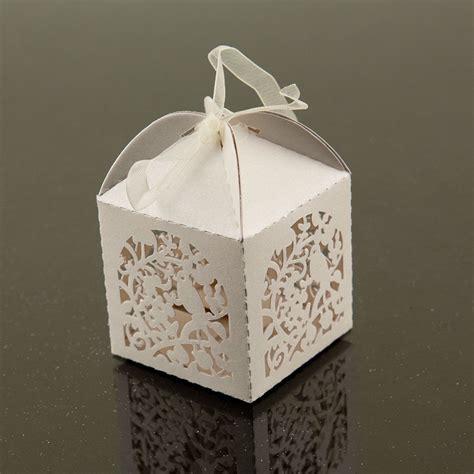 white cute garden bird favor candy box party wedding