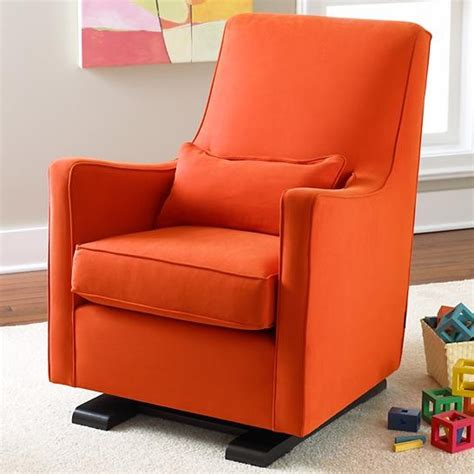 wide chair and ottoman rocking chair design orange rocking chair luca glider