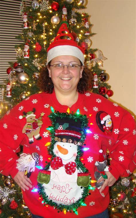 homemade ugly christmas festive sweater christmas
