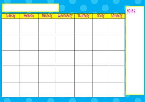 monday  friday blank calendar template template