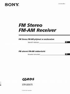 Sony Str De675 Receiver Download Manual For Free Now