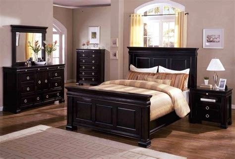 cambridge espresso panel bedroom set  english dovetail
