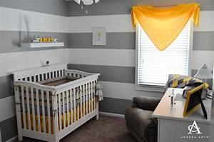 Chambre Bebe Jaune : deco chambre bebe gris et jaune ~ Nature-et-papiers.com Idées de Décoration