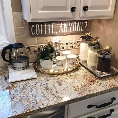 The floating shelves and the staples at the counter make this design more. 49 Exceptional DIY Coffee Bar Ideas for Your Cozy Home   Homesthetics - Inspiring ideas for your ...