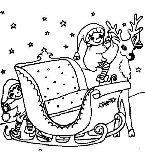 Kleurplaat Arreslee by Kerst Kleurplaat Arreslee