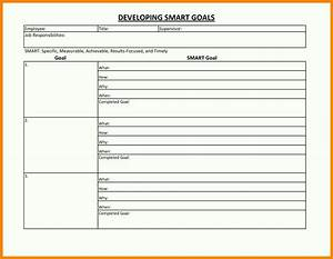 performance smart goal setting worksheet examples With smart goals template for employees