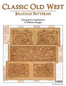 Classic Old West Billfold Patterns - 15 Tracing & Carving Leather Patterns [DIGITAL DOWNLOAD]