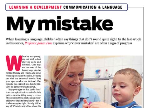 children  clever mistakes  learning  talk