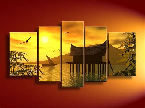 Landscape Feng Shui Art Canvas Wall Art Sets