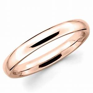10k solid rose gold 3mm plain wedding band ring 2413837 With plain gold band wedding ring