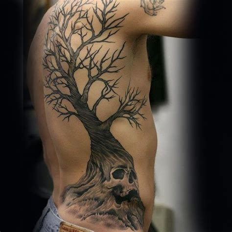 Tree Back Tattoo Designs For Men Wooden Ink Ideas