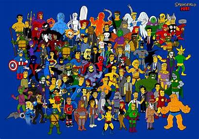 Characters Comic Simpsonized Favorite Among Marvel Aw