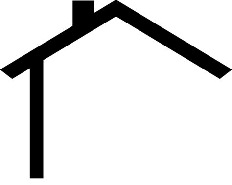 House Outline Clipart Black And White