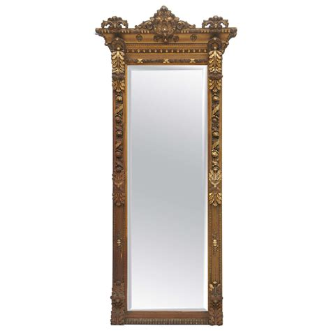 gilded floor mirror 1800 s gold gilded floor or mantle mirror at 1stdibs