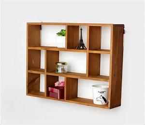 Aliexpress com : Buy Hollow Wooden Wall Shelf Storage