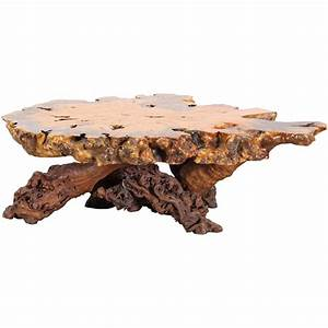 burl wood maple slab coffee table with old growth grape With burl wood coffee table for sale