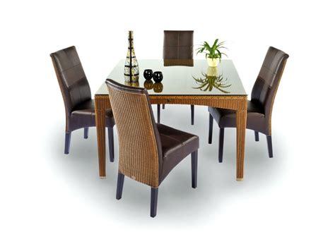 chaises salle à manger cuir chaise en loom et cuir synthétique brin d 39 ouest