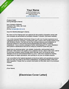 professional electrician cover letter resume genius With cover letter for electrician job application