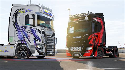 Truck Simulator 2 Wallpaper 4k by Trux Paintjobs For Scania S R New Generation Ets2 Mod