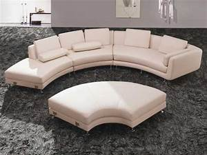 Exquisite archaicawful curved leather sectional sofa for Curved sectional sofa dimensions