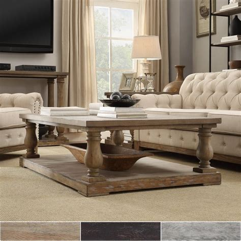 shop edmaire rustic baluster   coffee table