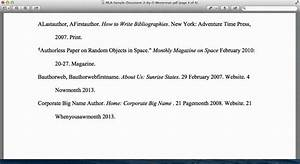 mla cited page format