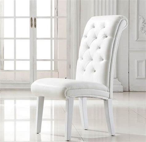 ideas  white leather dining chairs dining room ideas