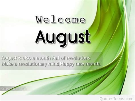 Top August quotes pictures, sayings and messages