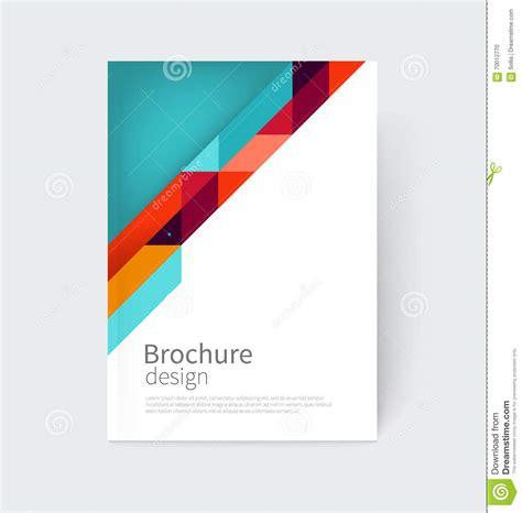 Blank Leaflet Template Inner Solape by Brochure Leaflet Flyer Poster Template Cover Design