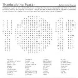thanksgiving word search puzzle october 2012