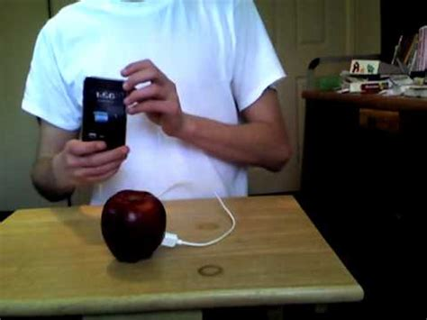 can you charge your phone with a potato how to charge your ipod with an apple fruit