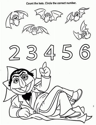 Sesame Count Coloring Street Pages Elmo Bats