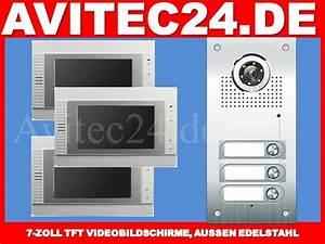 Edelstahl Video Türsprechanlage : t rsprechanlage 3 familienhaus mit 3x7 vt32 tft edelstahl aussenstation ~ Sanjose-hotels-ca.com Haus und Dekorationen