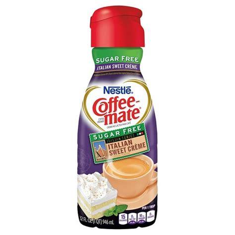 Nestle coffee mate irish creme flavored liquid creamer singles are a true delight. Coffee-Mate Sugar Free Italian Sweet Creme Creamer - 32oz ...