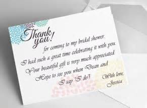wedding favor ideas bridal shower thank you card ideas