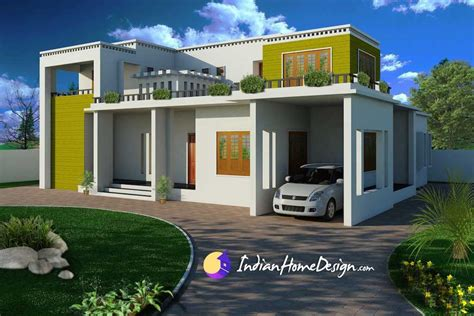 home design by modern contemporary flat roof indian home design by shahid indian home design free house