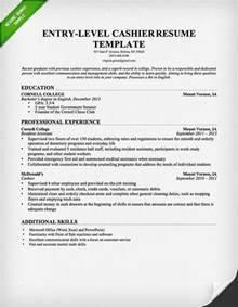 Entry Level Cashier Resume Sample Resume Genius
