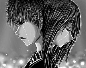 Sad Anime Boy Crying In The Rain Drawing Love Alone Sad ...