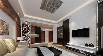Living Interior Wall Designs Tv Wallpapers Decoration