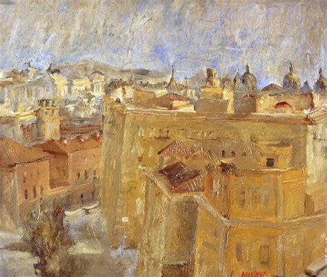 paesaggio romano fausto pirandello pittura arte