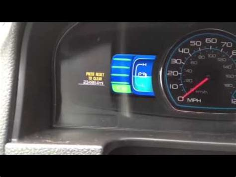 reset oil change light how to reset ford fusion 2012 oil change light youtube