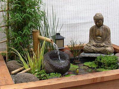 outdoor  ground zen fountain home pinterest
