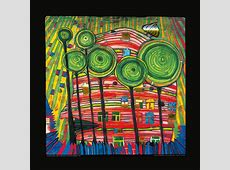 Buy Hundertwasser painting BLOBS GROW IN BELOVED GARDENS