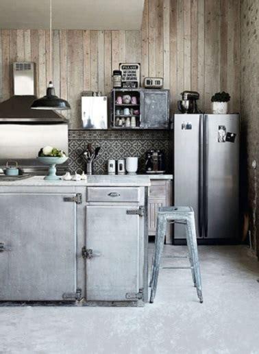 cuisine style industriel zinc  bois