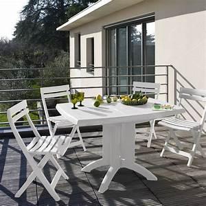 Table Balcon Pliante : table de jardin vega pliante 118 cm coloris blanc oogarden france ~ Teatrodelosmanantiales.com Idées de Décoration