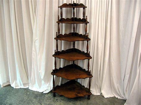 Corner Etagere Cabinet by Mahogany Antique 6 Shelf Corner Etagere For Sale