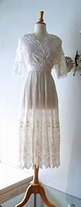 reserved dwardian wedding dress vintage cotton lace With cotton lace wedding dress