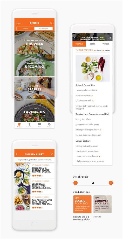 cooking recipe app design grace tai